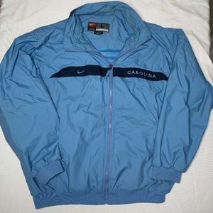 North Carolina Tarheel nylon full zip jacket. L.